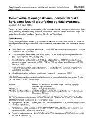 Beskrivelse af omegnskommunernes tekniske kort, samt ... - HRKS