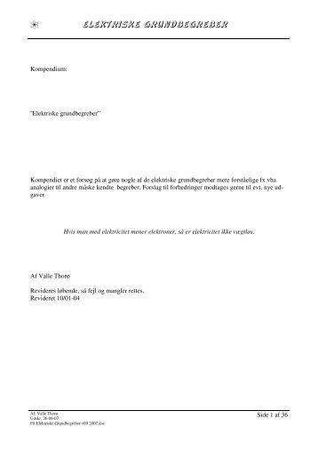 Elektriske Grundbegreber v09 2007 - Valle´s Bedste Hjemmeside.