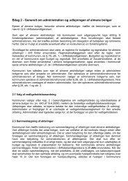 Bilag 2 - Generelt om administration og udlejningen af almene boliger