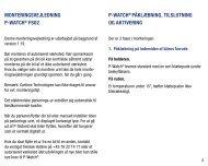Monteringsvejledning P-Watch® Fs02 P-Watch ... - FDM netbutik