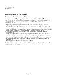 Abonnementsvilkår for TDC Webtekst