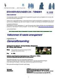 Erhvervskvindenyt nr. 2- 2008 - Foreningen af Erhvervskvinder