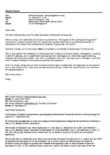 EF - Notat fra bestyrelsen vedrørende brugsret til tagterrasse