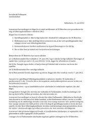om procedure for opstilling af folketingskandidater Østerbro - SF