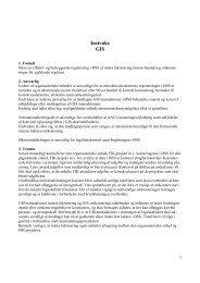 Instruks GIS - AAU økonomiafdeling