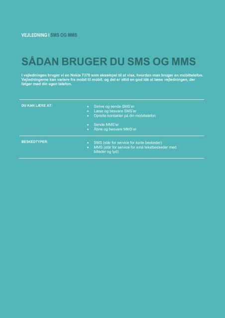 Vejledning om sms og mms