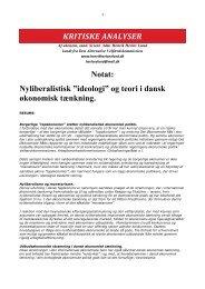 """Nyliberalistisk """"ideologi"""" og teori i dansk økonomisk tænkning."""