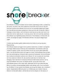 Snore-Breaker er udviklet til at hjælpe med at modvirke ...