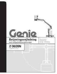 Betjeningsvejledning Fourth Edition - Genie