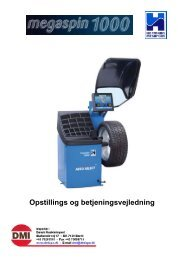 Megaspin 1000 manual - Dansk Maskin Import
