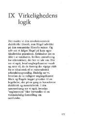 IX Virkelighedens logik