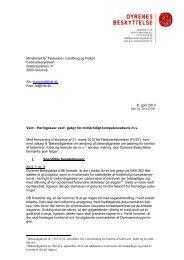 Høringssvar vedr. gebyr for midlertidigt kompetencebevis m.v.