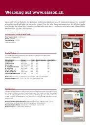 TitelWerbung auf www.saison.ch