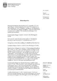 VVM-Bekendtgørelse – Store vindmøller - Amager Øst Lokaludvalg