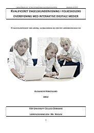 Kvalificeret engelsundervisning i folkeskolens overbygning med