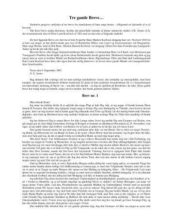 Tre gamle Breve… - Lauegaardsfamilien
