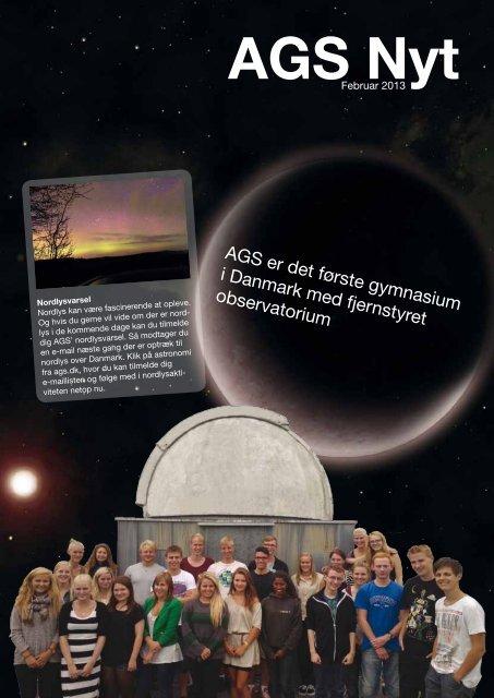 AGS er det første gymnasium i Danmark med fjernstyret observatorium