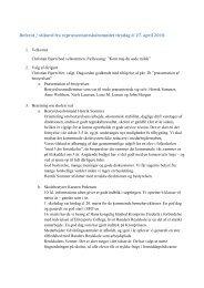 Referat / stikord fra repræsentantskabsmødet tirsdag d. 27. april 2010.