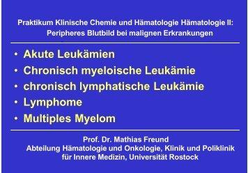 Ausführliche Folien - Hämatologie und Onkologie Rostock
