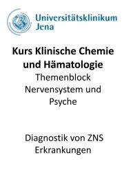 Kurs Klinische Chemie und Hämatologie Diagnostik von ZNS ...