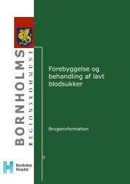 Forebyggelse og behandling af lavt blodsukker - Bornholms ...