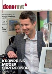 KRONPRINS MøDER SUPERDONOR - Bloddonorerne i Danmark
