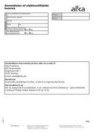 Anmeldelse af ulykkestilfælde - Dødsfald - ALKA forsikring