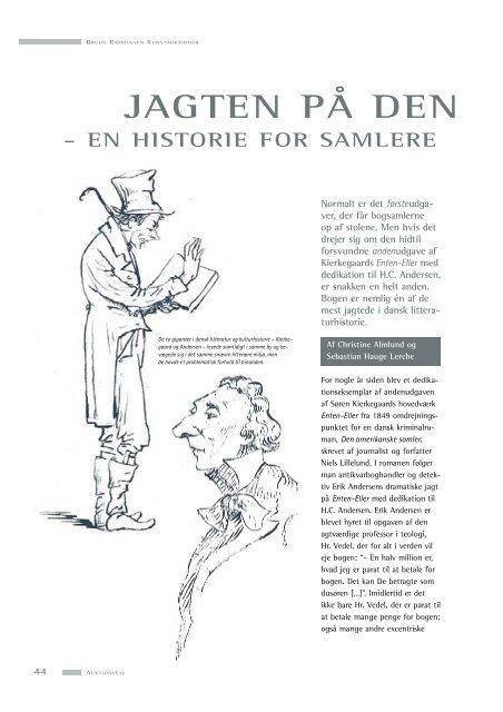 Læs artikel om Søren Kierkegaard - Bruun Rasmussen