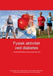 Fysisk aktivitet ved diabetes - Rubin Medical
