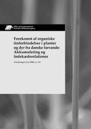 Forekomst af organiske tinforbindelser i planter og dyr fra danske ...