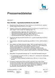 Press release - Novo Nordisk