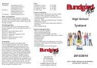High School Tyskland - Bundgård Rejser