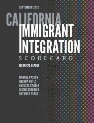 California Immigrant Integration Scorecard Technical Report
