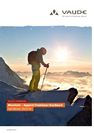 Mountain – Apparel/Footwear/Hardware Fall/Winter 2013/14 - vaude