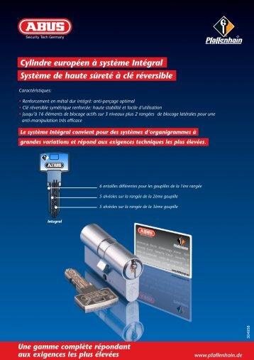 Cylindre européen à système Intégral Système de haute sûreté à clé ...