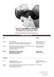 TENTATIVE CALENDAR OF THE EVENTS - Pitti Immagine