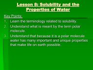 Chemistry Lesson08 The Nature of water and Sol