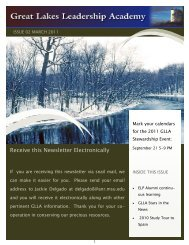 Receive this Newsletter Electronically - Great Lakes Leadership ...