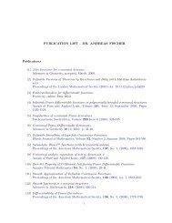 PUBLICATION LIST - DR. ANDREAS FISCHER Publications (1 ...