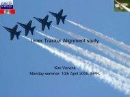 Inner Tracker Alignment study - EPFL