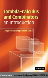 Lambda-Calculus and Combinators, an Introduction