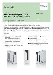 Datenblatt AMILO Desktop Si 3535 - IT-Einkauf.de