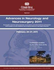 Advances in Neurology and Neurosurgery 2011 - Cedars-Sinai