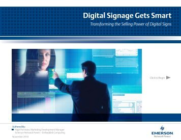 Digital Signage Gets Smart - Embedded Community - Intel