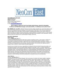 Ninth Annual NeoCon East Features Exceptional Keynote Speakers