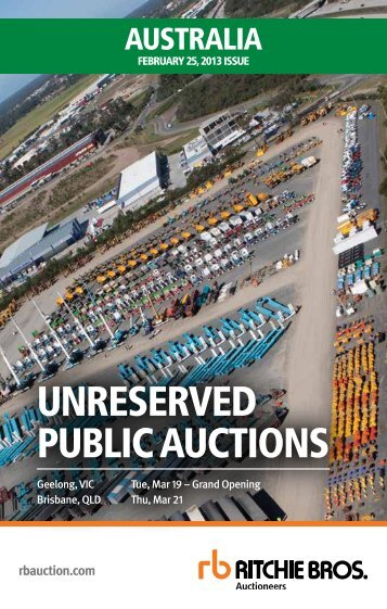 UNRESERVED PUBLIC AUCTIONS - Ritchie Bros. Auctioneers