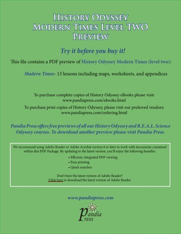 History Odyssey - Modern Times (2) Preview - Pandia Press