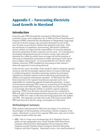 Appendix C – Forecasting Electricity Load Growth in ... - Versar ESM