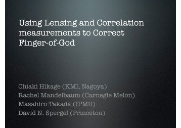 Using lensing and correlation measurements to correct Finger-of-God