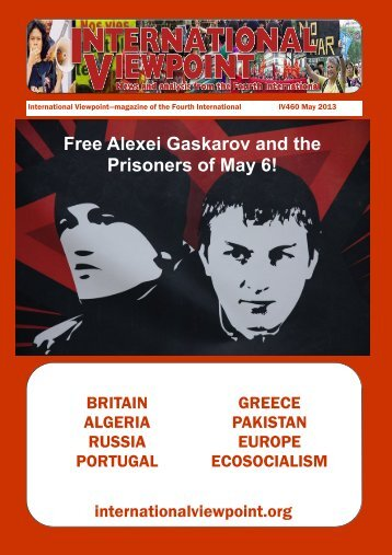 Free Alexei Gaskarov and the Prisoners of May 6! - International ...